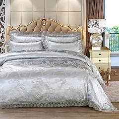 billige Hjemmetekstiler-Sengesett Luksus Imitasjon Silke Mønstret 4 delerBedding Sets / 500 / 4stk (1 Dynebetræk, 1 Lagen, 2 Pudebetræk)