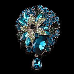 Dámské Brože Šperky Jednoduchý Slitina Circle Shape Šperky Pro Svatební Párty