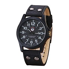 cheap Men's Watches-Men's Sport Watch Chinese Chronograph Leather Band Casual / Elegant / Fashion Black / Blue / Brown