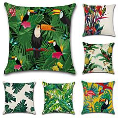 cheap Throw Pillows-6 pcs Cotton / Linen Pillow Cover Pillow Case, Botanical Novelty Classic Classical Retro Traditional / Classic