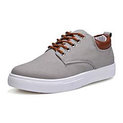 Homens Sapatos de Condução Lona Primavera / Outono Conforto / Sapatos de mergulho Tênis Vermelho / Azul / Khaki