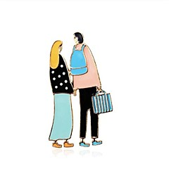 女性用 ブローチ ジュエリー ベーシック 甘い 合金 ジュエリー 用途 日常 デート