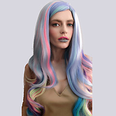 cheap Wigs & Hair Pieces-europe and the united states women s fashion new year party long section of large waves seven color omber high temperature wire wig
