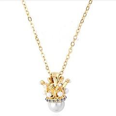 billige Fine smykker-Dame Smuk Imiteret Perle Imiteret Perle Halskædevedhæng  -  Mode Guld Halskæder Til Valentine Stævnemøde