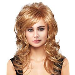 billige Lågløs-Human Hair Capless Parykker Menneskehår Krop Bølge Side del Lang Maskinproduceret Paryk Dame