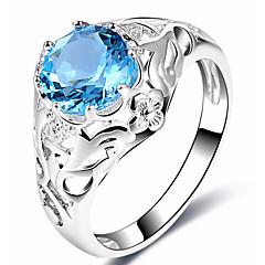 levne -Dámské Široké prsteny Boxer Kubický zirkon Klasické Módní Elegantní Dátek Cool Zirkon Měď Circle Shape Geometric Shape Šperky Pro