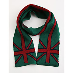 baratos Acessórios para Crianças-Unisexo Cachecóis Inverno Acrílico Azul Verde Vermelho
