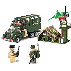 voordelige -ENLIGHTEN Bouwblokken 308pcs Voertuigen / Militair / Vrachtwagen Non Toxic Voertuig Truck / Legervoertuig Jongens Geschenk