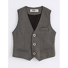 tanie Odzież dla chłopców-Kamizelka Bawełna Dla chłopców Jendolity kolor Bez rękawów Dark Gray