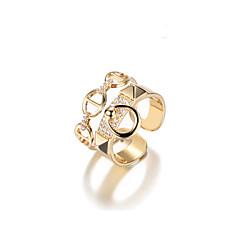 billige Fine smykker-Dame Geometrisk Manchet ring - Legering Koreansk Justerbar Guld Til Gave / Daglig / Stævnemøde