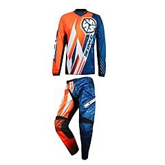tanie Kurtki motocyklowe-mężczyźni motocyklowy garnitur t-shirt spodnie antypoślizgowe odporne na zużycie garnitur t-shirt spodnie ochraniacz dla motorsportu