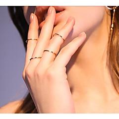 お買い得  ファインジュエリー-女性用 バンドリング 4 メタリック ファッション 合金鋼 円形 ジュエリー その他 日常