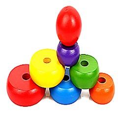 Bausteine Spielzeuge Kreisförmig Familie Schule / Abschluss hölzern Neues Design Stücke