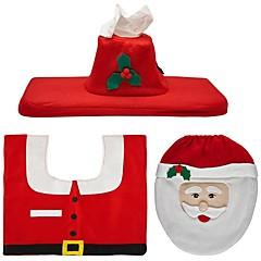 זול עיצוב הבית-קישוטים לחג Santa שטיחים לחג המולד תגיות למתנות חג המולד Party אדום