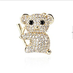 Women's Brooches Cubic Zirconia Casual Lovely Alloy Jewelry For Prom Date