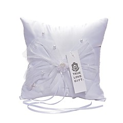 cheap Ring Pillows-Satin Lace Ring Pillow Floral Theme Wedding All Seasons