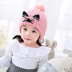 baratos Acessórios para Crianças-Infantil Para Meninas Suéter Capéus e Bonés Rosa / Bege Tamanho Único