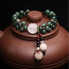 Women's Bracelet Strand Bracelet Onyx Jade Vintage Elegant Jadeite Beads Round Jewelry For Wedding Daily