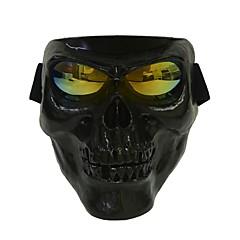 플라스틱 할로윈 보호 두개골 뼈대 마스크 야외 풀 페이스