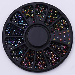 24 Nail Art Decoration tekojalokivi Pearls meikki Kosmeettiset Nail Art Design