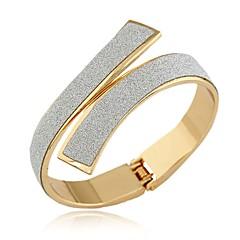 preiswerte Armreife-Damen Armreife Manschetten-Armbänder - Retro Erklärung Modisch Kreisform Geometrische Form Gold Silber Armbänder Für Party Geschenk