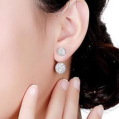 halpa -Naisten Niittikorvakorut Kaksipuoliset korvakorut Perus Kristalli Metalliseos Circle Shape Korut Muuta Muodollinen