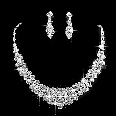 Women S Cubic Zirconia Jewelry Set Simple Include Silver For Wedding Party