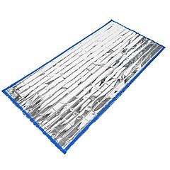 baratos -Cobertor de Emergência Retangular 26°C retenção de calor Isolamento térmico 213X91 Viajar Acampar e Caminhar Solteiro (L150 cm x C200 cm)
