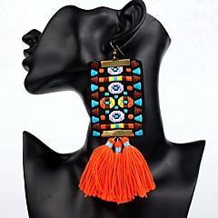 cheap -Women's Tassel / Chandelier / Long Drop Earrings - Bohemian, Ethnic, Boho Orange / Red / Green For Party / Oversized
