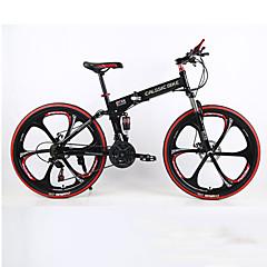 Mountain bike / Összecsukható kerékpár Kerékpározás 21 Speed 26 hüvelyk/700CC Férfi SHIMANO TX30 Dupla tárcsafék Springer villaHátsó