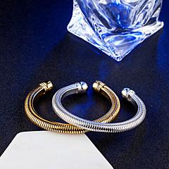 Mulheres Bracelete Pulseiras Algema Vintage Elegant Titânio Formato Circular Infinidade Jóias Casamento Noivado Diário Cerimônia