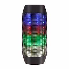 preiswerte Lautsprecher-Flashing Speaker Outdoor Tragbar LED-Lampe Bult-Mikrofon Speicherkarte unterstützt Super Bass Bluetooth 2.1 3.5 mm AUX Wireless