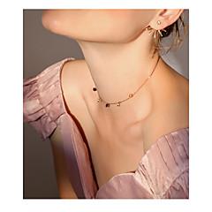billige Fine smykker-Dame Hjerte Kort halskæde  -  Mode Koreansk Guld Halskæder Til Daglig I-byen-tøj