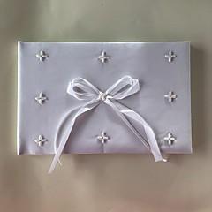 ieftine Ceremonia Nunții-Satin Romantic Fantezie NuntăWithMărgea 1 Cutie de Pachet Carte de Oaspeți
