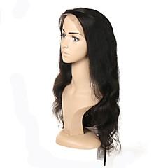 billige Lågløs-Human Hair Capless Parykker Remy hår Krop Bølge Natural Hairline Kort Medium Lang 100 % håndbundet Paryk Dame