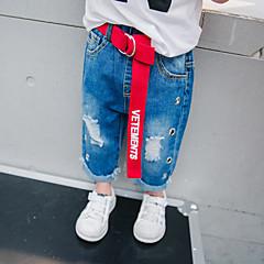 billige Jeans til drenge-Børn Drenge Simple / Vintage Ensfarvet Uld / Bomuld / Bambus Fiber Jeans
