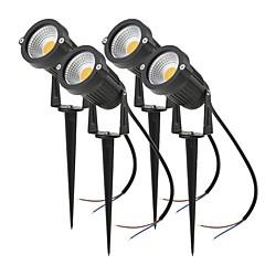 billiga Dekorativ belysning-4pcs 4 W LED-strålkastare / Lawn Lights Vattentät / Ny Design / Dekorativ Varmvit / Kallvit / Röd 85-265 V / 12 V Utomhusbelysning / Gård / Trädgård 1 LED-pärlor