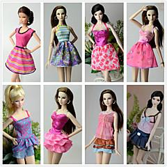 Χαμηλού Κόστους Αξεσουάρ για κούκλες-Πριγκίπισσα Στολές Για Κούκλα Barbie Πολυεστέρας Φούστες Κορυφή Φόρεμα Παντελόνια Για Κορίτσια κούκλα παιχνιδιών
