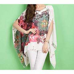 Damen Blumen Geometrisch Bluse überdimensional Polyester