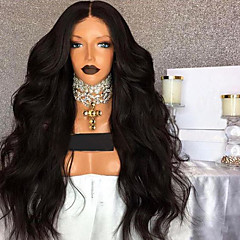 cheap Wigs & Hair Pieces-natural wavy 360 lace frontal human hair lace wigs with baby hair 180% density 360 lace wigs natural hairline 100% brazilian human hair middle part