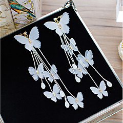 cheap Earrings-Women's One-piece Suit Clip Earrings Floral Elegant Crystal Fabric Bowknot Jewelry Wedding Holiday Costume Jewelry