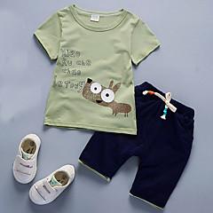 tanie Odzież dla chłopców-Brzdąc Dla chłopców Na co dzień Jendolity kolor Krótki rękaw Bawełna Komplet odzieży