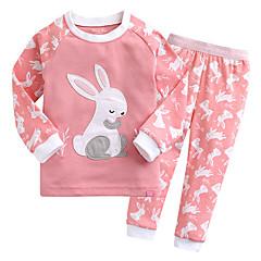 billige Undertøj og sokker til piger-Baby Unisex Simple Trykt mønster Langærmet Bomuld Nattøj
