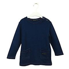 billige Pigetoppe-Baby Pige Simple Ensfarvet Langærmet Bomuld Bluse