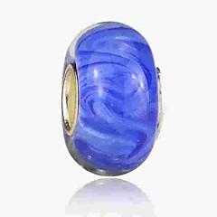 baratos Miçangas & Fabricação de Bijuterias-Jóias DIY 1 pçs Contas Esmalte Colorido Liga Azul Real Redonda Bead 0.2 cm faça você mesmo Colar Pulseiras