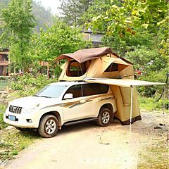 billige Telt og ly-Deerke 3-4 personer Dobbelt camping Tent To Rom Familietelt Regn-sikker til Camping / Vandring / Grotte Udforskning Picnic Reise