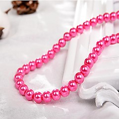 cheap Beads & Jewelry Making-DIY Jewelry 90 pcs Beads Imitation Pearl Fuchsia Red Green Light Pink Royal Blue Round Bead 0.4 cm DIY Necklace Bracelet