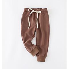 billige Bukser og leggings til piger-Baby Unisex Normal Ensfarvet Bukser