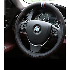 billige Rattovertrekk til bilen-Rattovertrekk til bilen ekte lær Hvit / Blå For BMW X3 / X5 / 3-serien Alle år
