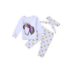 billige Tøjsæt til drenge-Spædbarn Unisex Aktiv Prikker / Dyr Langærmet Bomuld Tøjsæt / Sødt